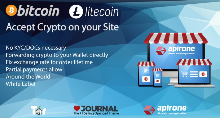 Accept Bitcoin and Litecoin Payments via Apirone Gateway