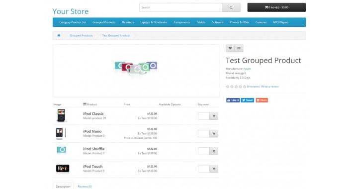 Grouped Product SE (Opencart v3.x)