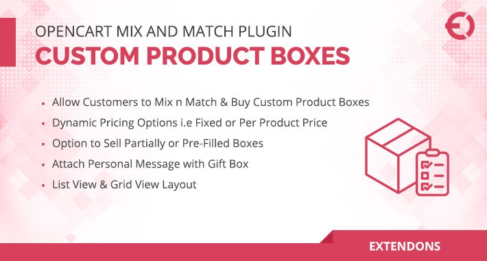 OpenCart Mix and Match - Custom Product Boxes