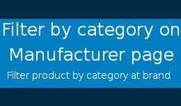Filter Product by Category on Manufacturer(Brand..