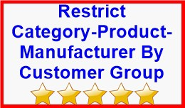Restrict Category-Product-Manufacturer By Custom..