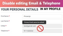 Disable editing Email | Disable email option in ..