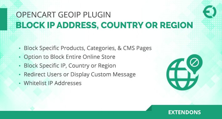 Opencart Geoip - Block IP Address, Country or Region