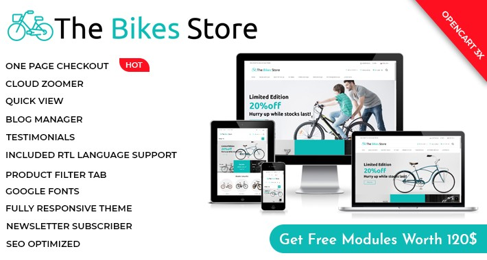 Bikes Shop Multipurpose Opencart 3x Theme
