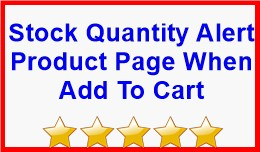 Stock Quantity Alert Product Page When Add To Cart