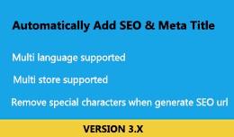 Automatically add SEO and meta title
