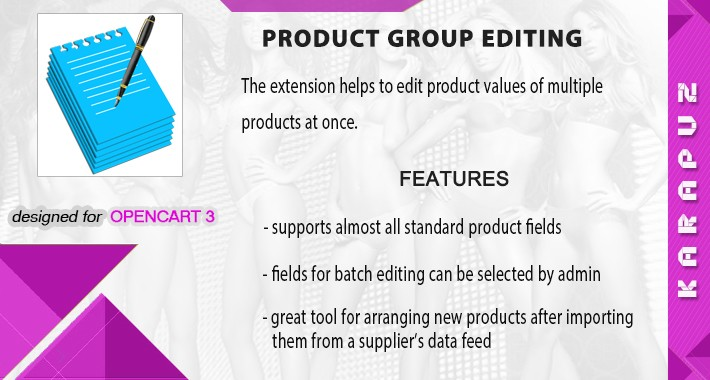 Product Group Editing (for Opencart 3)