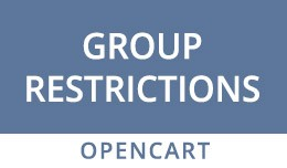 OpenCart Customer Groups Restrictions Extension