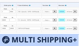 Multi shipping with formula and cost threshold f..