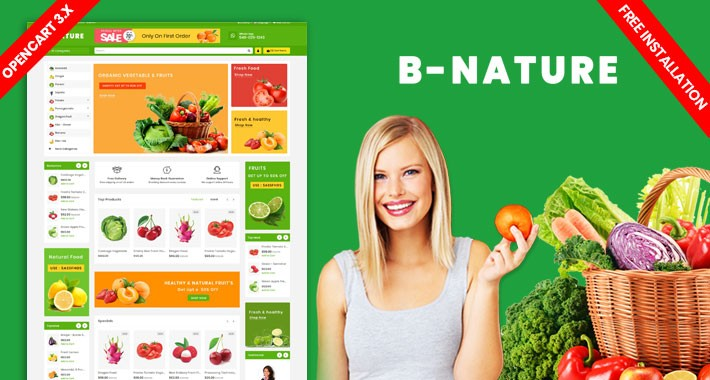 B-Nature-organic-farm-food(Free Installation)
