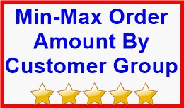 Min-Max Order Amount By Customer Group