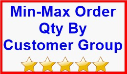 Min Max Order Qty By Customer Group