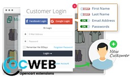 Social Login & Quick Login and Signup Popup