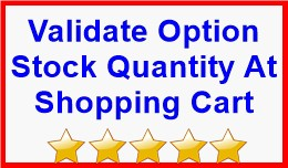 Validate Option Stock Quantity At Shopping Cart