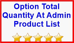 Option Total Quantity At Admin Product List