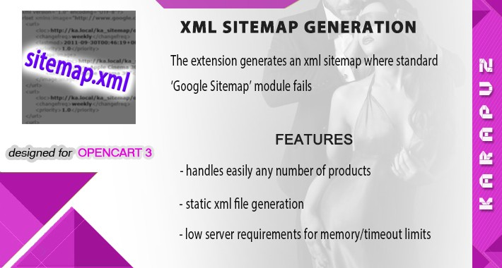 XML Sitemap Generation (for Opencart 3)