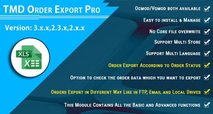 Order Export Pro
