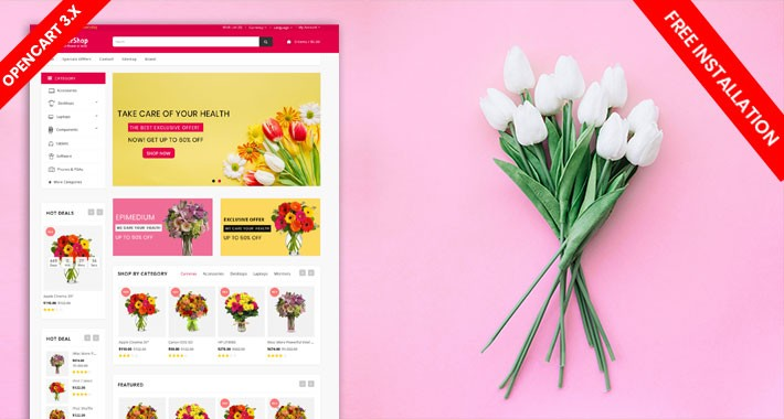 Flower Shop Ecommerce website template