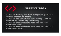 Breadcrumbs+ (Full product path, structured data..
