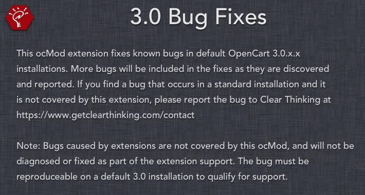 3.0 Bug Fixes