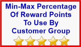 Min-Max Percentage Of Reward Points To Use By Cu..