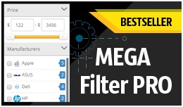 Mega Filter PRO [by attribs, options, brands, pr..
