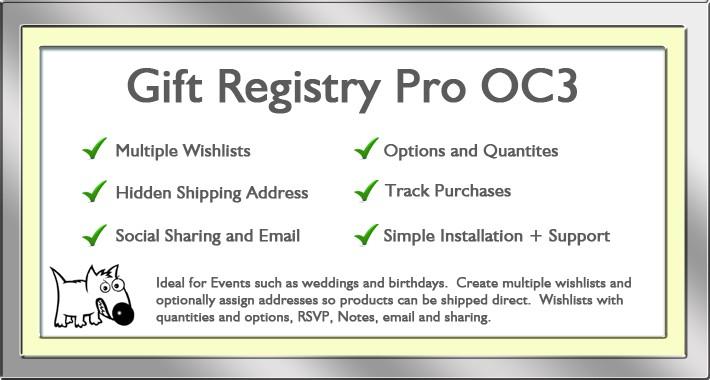 Gift Registry OC3.x