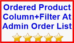 Ordered Product Column+Filter At Admin Order List