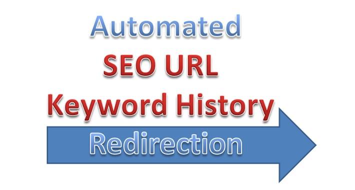 SEO URL Keyword History Redirection for OpenCart V3