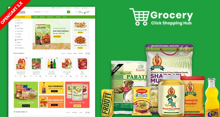 Grocery OpenCart 3.X Multistore Theme (Free Installation)