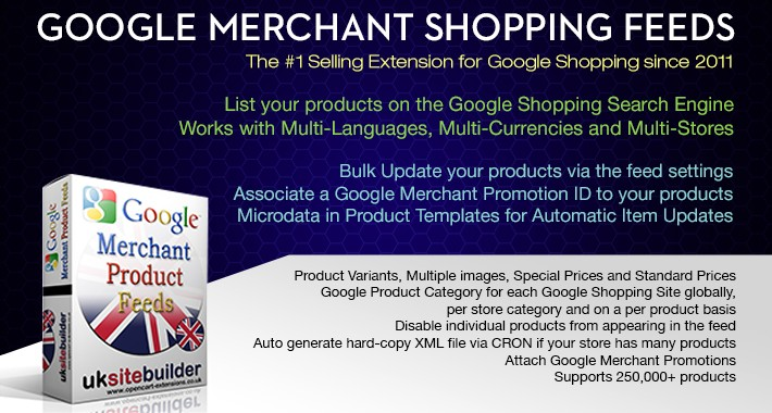 Google Merchant Shopping Feeds OC 1.5.x