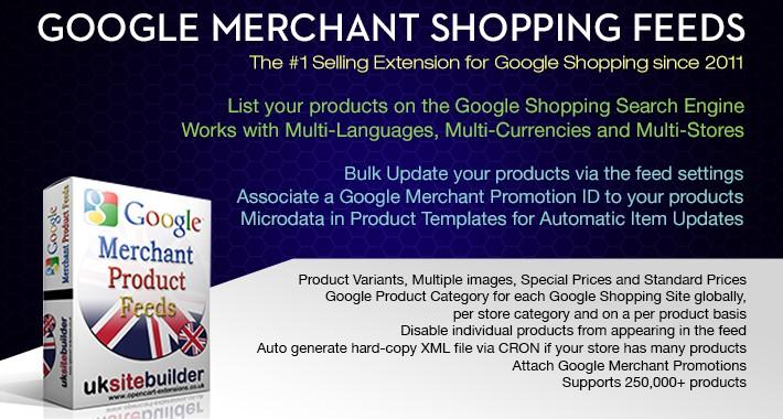 Google Merchant Shopping Feeds + XML Sitemaps OC 2.3.x
