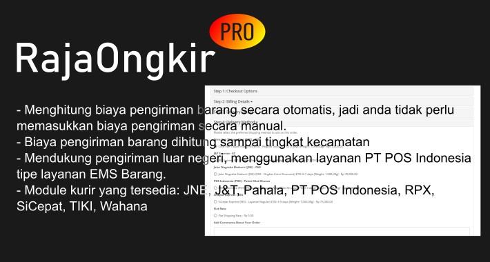 OpenCart RajaOngkir PRO