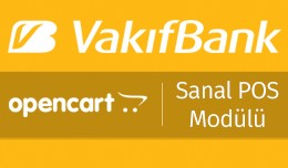Vakıfbank OpenCart Sanal POS Modülü - Vakıfb..