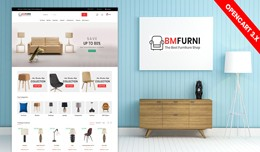 BM Furniture Responsive website template (Free I..
