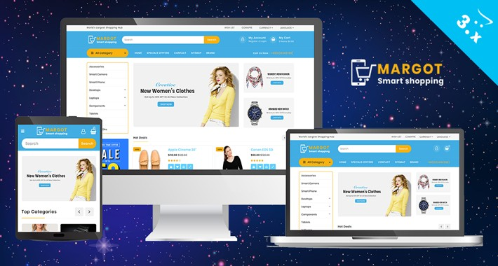Margot Fashion Responsive website Template
