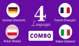 German,Italian,French and Polish Languages openc..