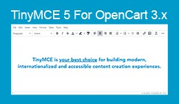TinyMCE 5 for Opencart 2.x - 3.x