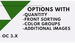 Options with quantity/sorting/color groups/addit..