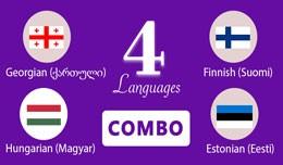 Georgian,Finnish,Hungarian,Estonian Languages op..