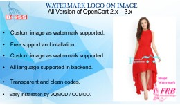 Watermark on image for OpenCart 2.x & 3.x