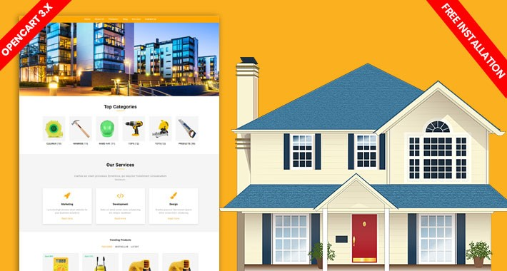 Home Tools & Materials opencart 3 website template