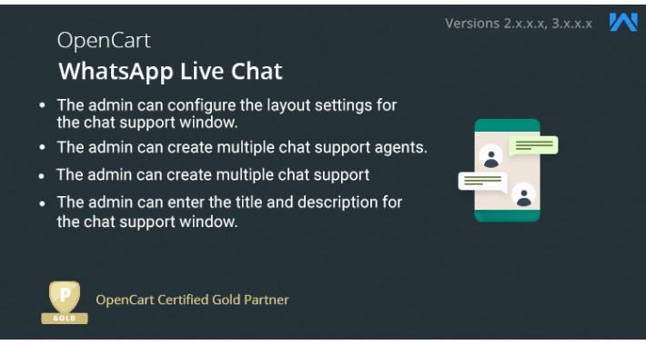 OpenCart WhatsApp Live Chat