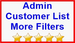 Admin Customer List More Filters