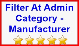 Filter At Admin Category - Manufacturer
