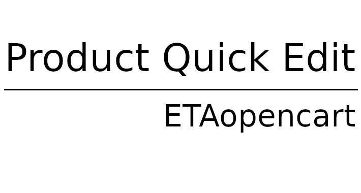 Product Quick Edit