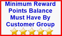 Minimum Reward Points Balance Must Have By Custo..