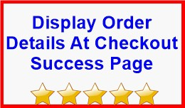 Display Order Details At Checkout Success Page