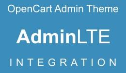 OpenCart Admin Theme - AdminLTE Integration