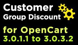 Customer Group Discount (OC3+)